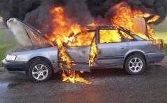 Пожары в легковых автомобилях и индивидуальных гаражах